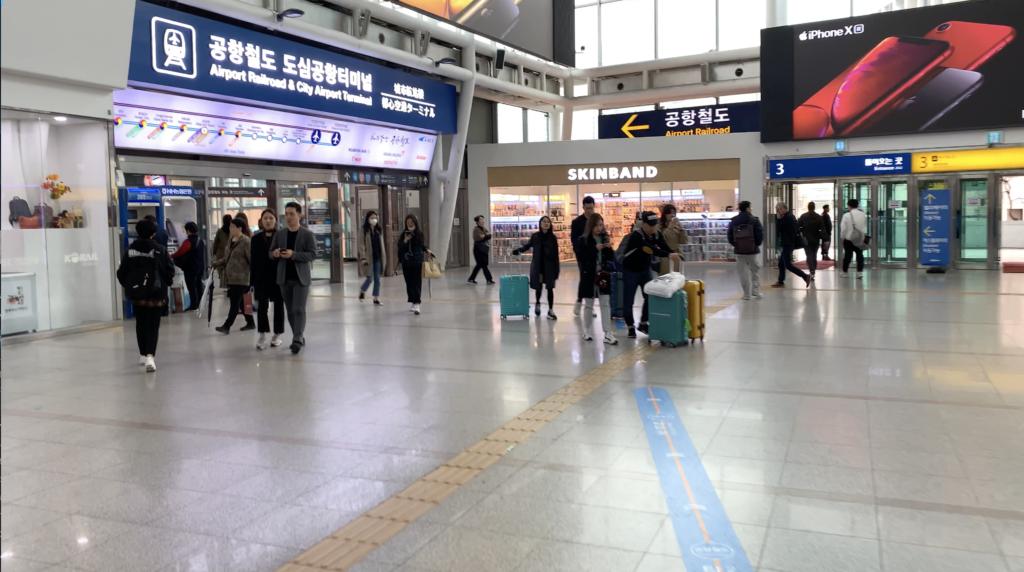 ソウル駅チェックイン場所