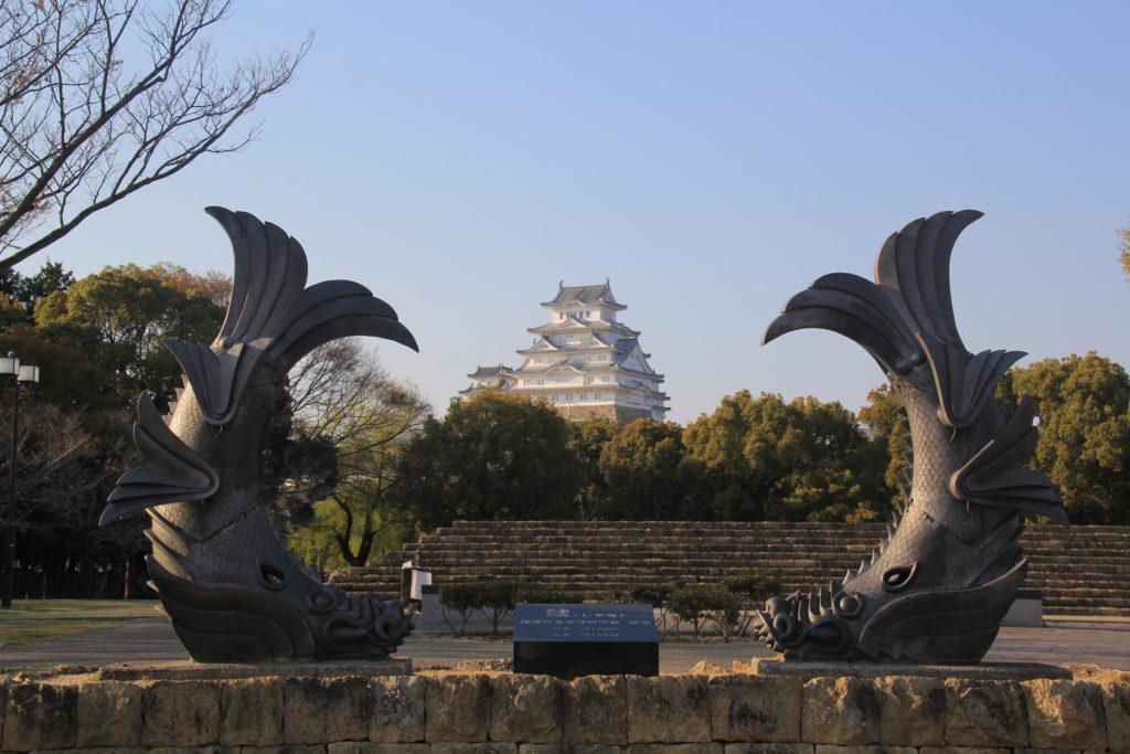 姫路城と鯱